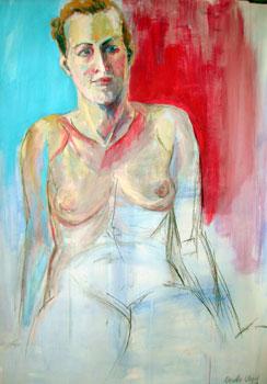Julie, Kasein-Tempera (70x100cm)