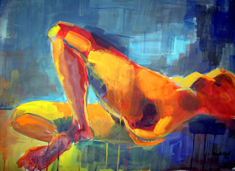 Hommage an die Weiblichkeit I, Kasein-Tempera (70x100cm)