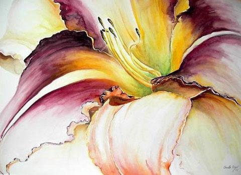 Taglilie, Aquarell (56x76cm)