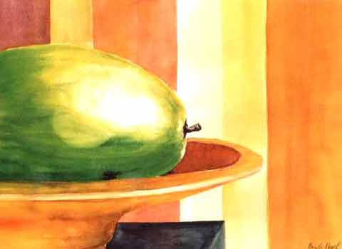Melone, Aquarell (42x54cm)