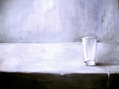Un Acqua Minerale, Kasein-Tempera auf Leinwand (70x100cm)