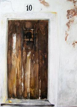 Ibiza - Dalt Vila Nr.10, Kasein-Tempera auf Leinwand (70x100cm)
