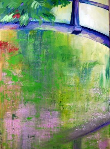 Teichträume, Kasein-Tempera auf Leinwand (70x100cm)