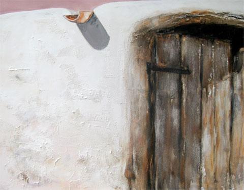 Ibiza - Dalt Vila II, Kasein-Tempera auf Leinwand (70x100cm)