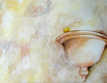 Mediterrane Impression 01, Kasein-Tempera auf Leinwand (70x100cm)