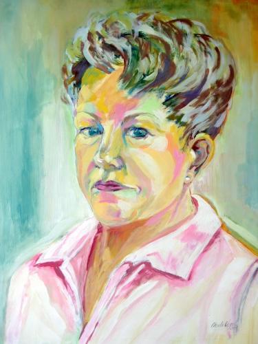 Selbst-Portrait - K-T. auf Papier (50x70cm)