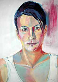 Julia, Kasein-Tempera (50x70cm)